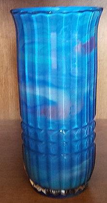 Faceted Glass Vase