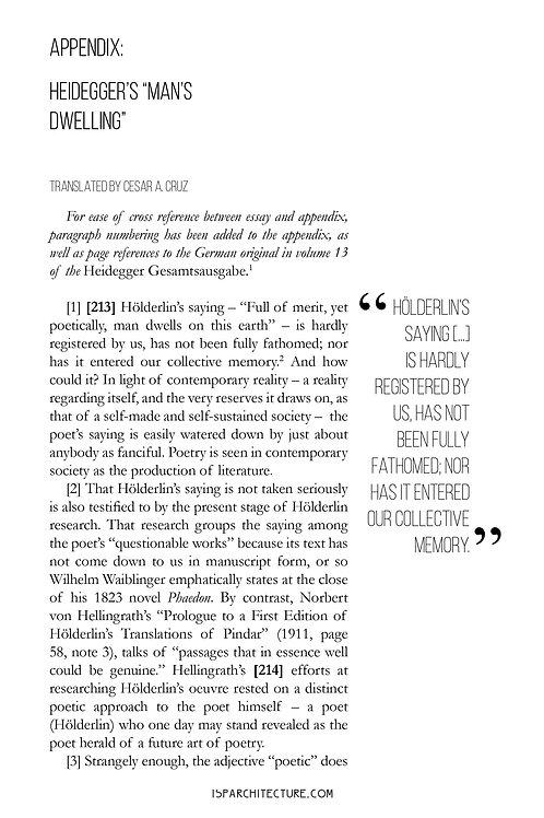 V2N1 - Appendix: Heidegger's Man's Dwelling / translated by Cesar Cruz