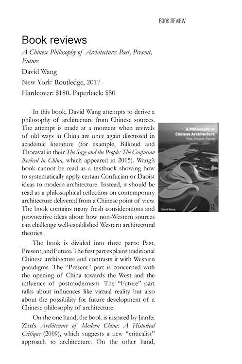 V4N1 - Book Reviews / Thorsten Botz-Bornstein, Tom Spector