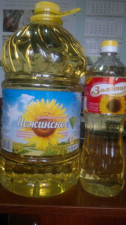 Масло подсолнечное рафинированное в/с