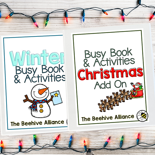 Winter Busy Book + Christmas Add On