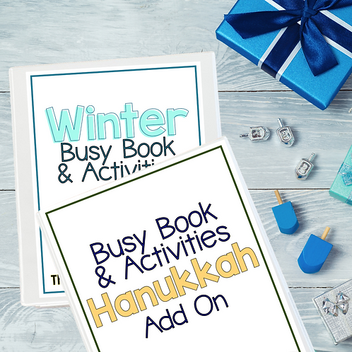 Winter Busy Book + Hanukkah Add On