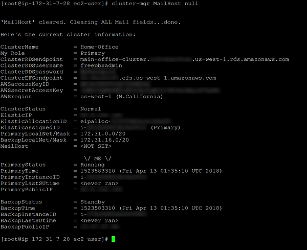 screenshot of cluster-mgr MailHost