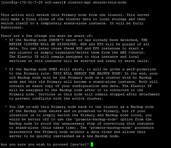 screenshot of cluster-mgr detach-this-node
