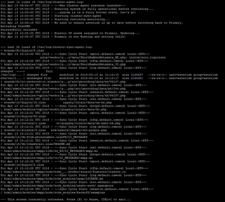 screenshot of cluster-mgr watch-all-logs