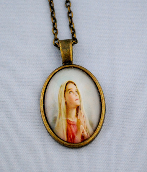 Vintage mary magdalene pendant prayer mortefolle vintage mary magdalene pendant prayer mozeypictures Gallery