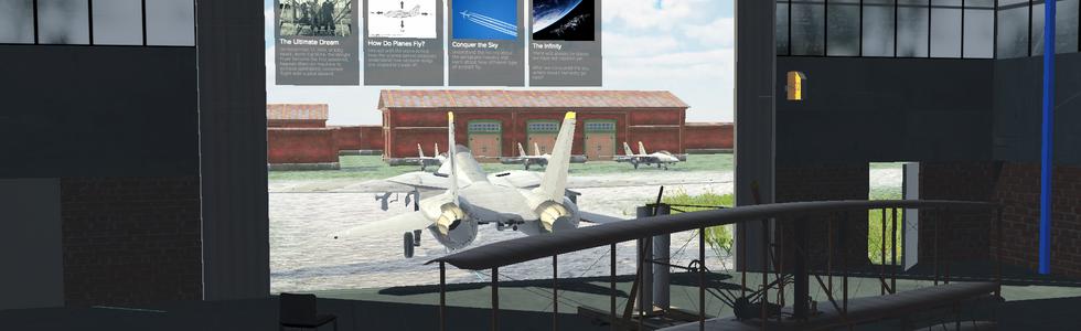 Main menu screenshot - Infinity Sky VR