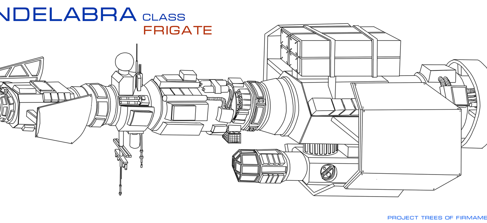 Spaceship design - Candelabra Class Frigate - Tree of Firmament