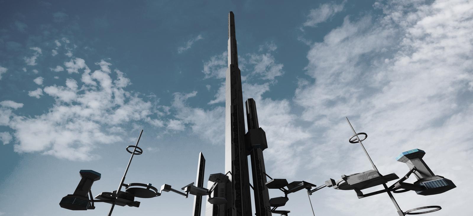 """Concept Art - """"The Tower"""" - Project Gungnir"""