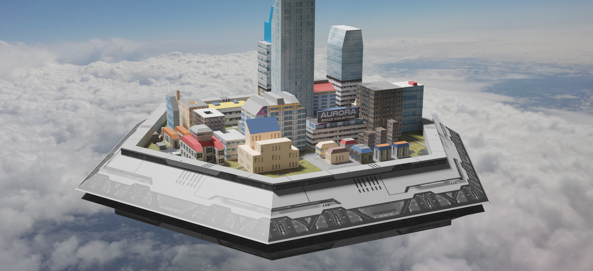 "Concept Art - ""Floating City Platform"" - Project Gungnir"