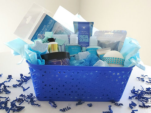 Don't Be Blue Spa Gift Basket