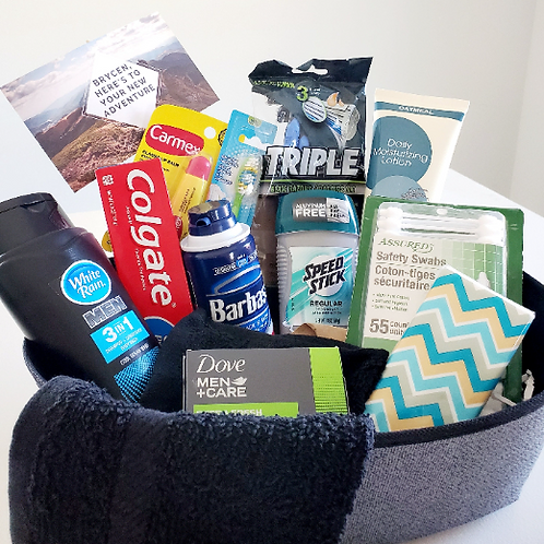 Men's Toiletry Gift Basket