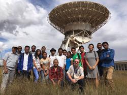 DARA-Madagascar Students at AVN dish site
