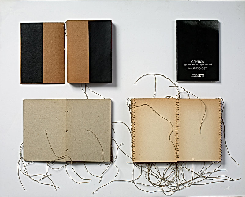 Maurizio Osti, Cantica (Genesi, Esodo, Apocalisse) 1 libro editoriale, 1974 litografia offset