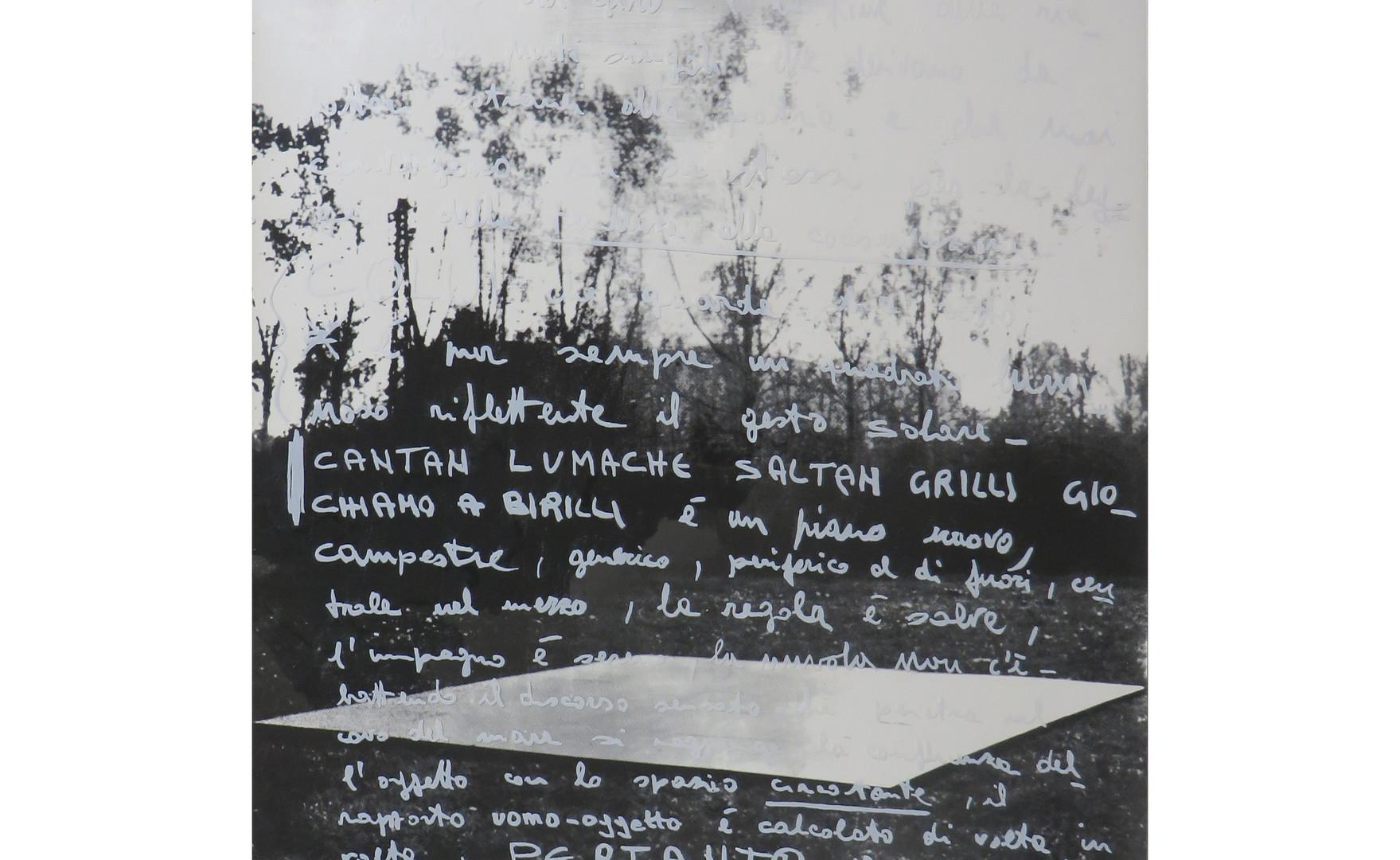 Franco Guerzoni, Overture, 1970, scritta stampa