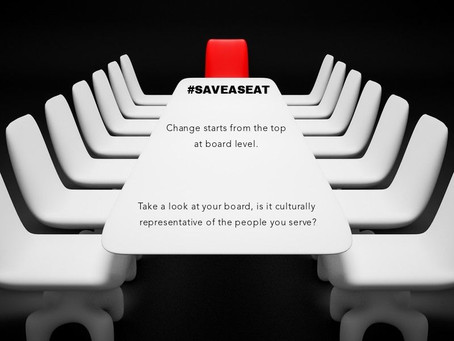 #SAVE  A SEAT - Is your Board of Trustees, Senior Management Team and Staff Culturally Diverse?