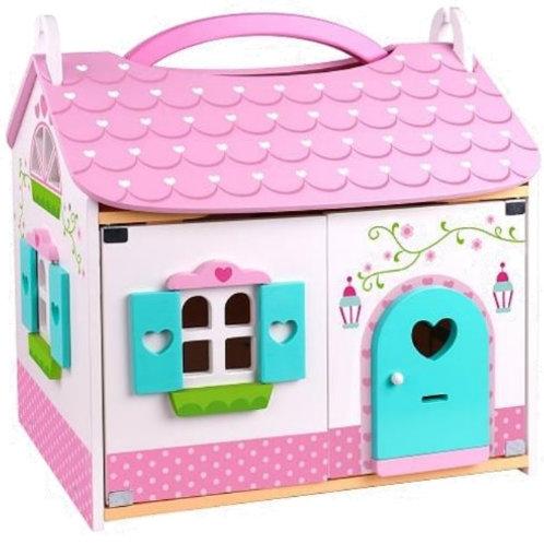 Casa rosa de boneca