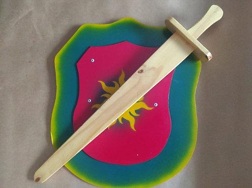 Escudo com espada M