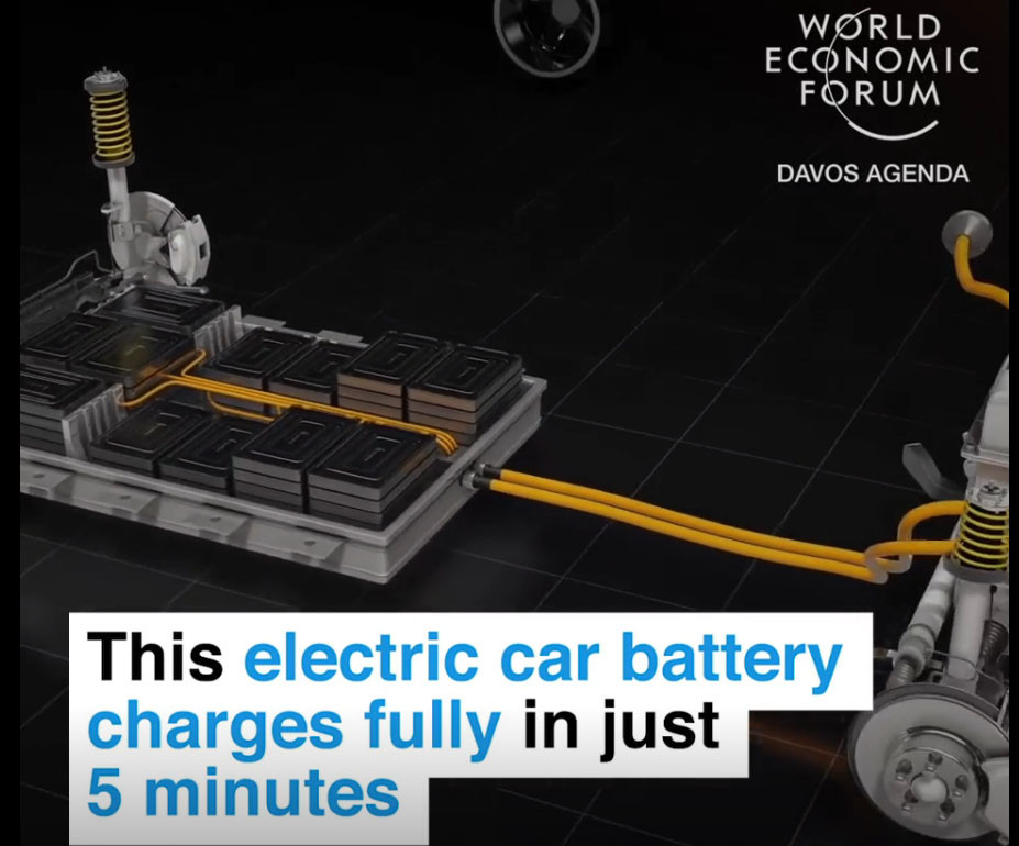This electric car battery charges fully in just 5 minutes
