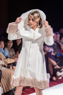 Cream Fur Coatdress