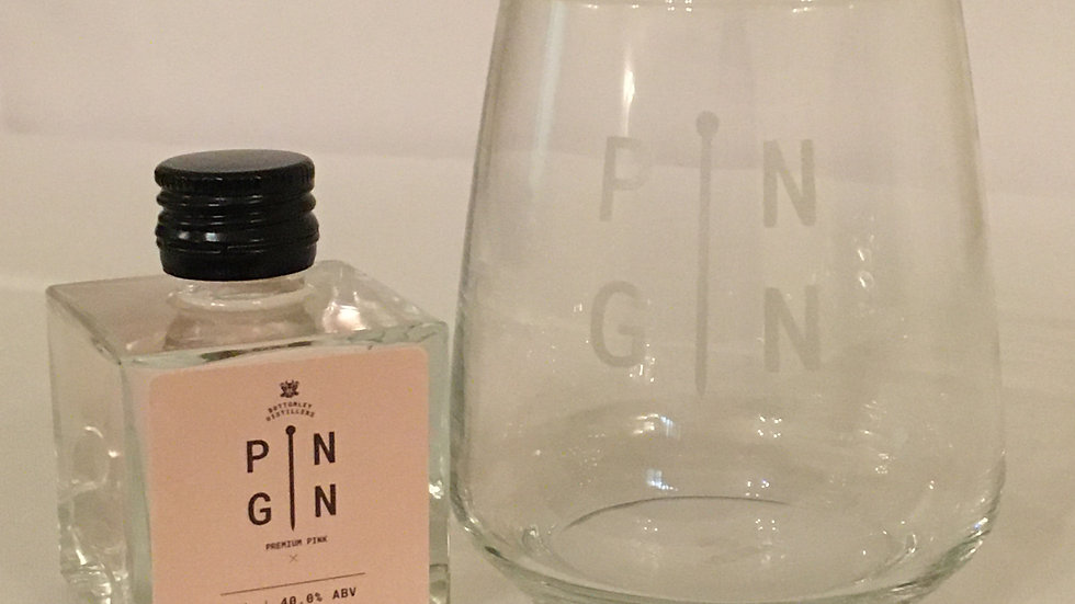 5cl Pin Gin or Rum with Glass