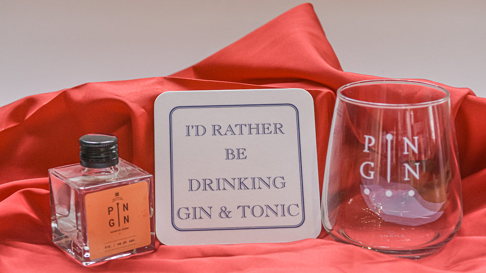 5cl Pin Gin Gift Set With Coaster