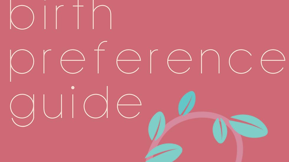 Birth Preference Guide
