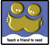 Teach a friend to read logo