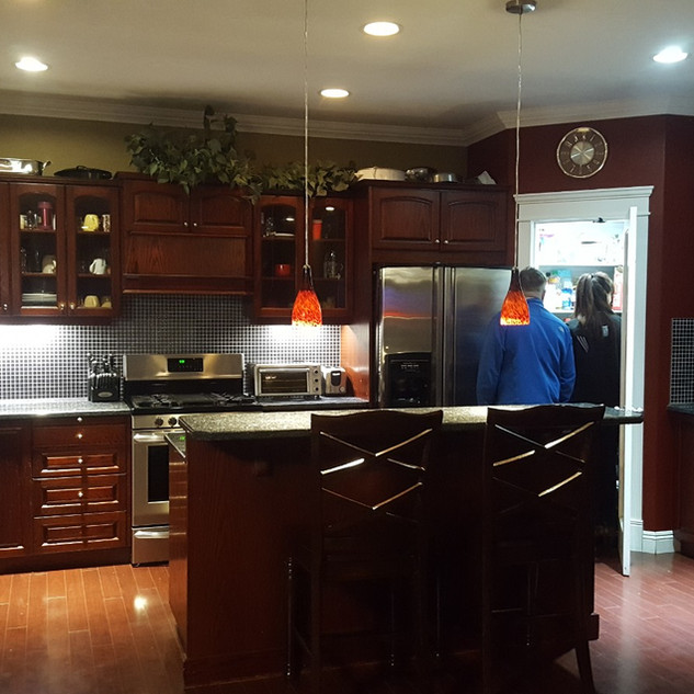 Dark cabinet (before).