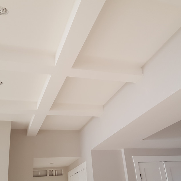 Complex ceiling.