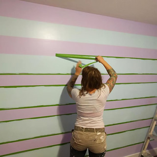 ... a nice light purple with suiting green stripes.