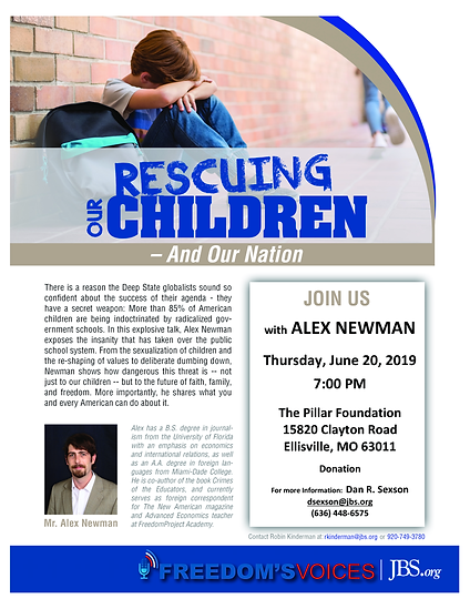 RESCUING OUR CHILDREN FLYER St Louis, MO