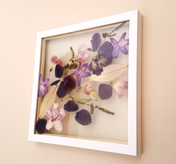 Framed 40th birthday florals, commission 2020