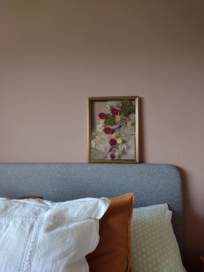 Bridal Bouquet pressed & framed