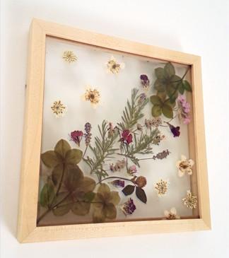 Pressed & framed florals, commission 2020
