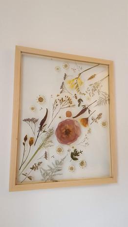 Bridal Bouquet pressed & framed 2020