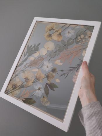 Bridal Bouquet pressed & framed 2021