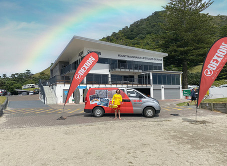Dexion supply centre (Mr Shelf Commercial) Main sponsor of MT Maunganui Surf Lifesaving club.