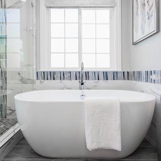 Modern White & Gray Bathroom