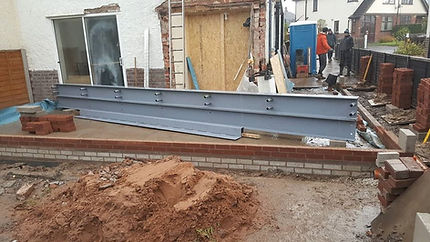Large steel for wrap around extension.jp