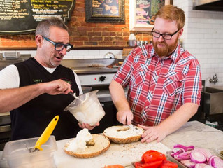 Comedian Josh Denny Wants to Show You America's Biggest Bagels, Burgers and Pizza