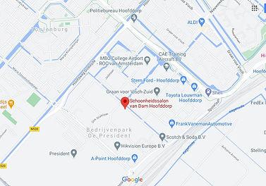 Schoonheidssalon van Dam maps Hoofddorp.