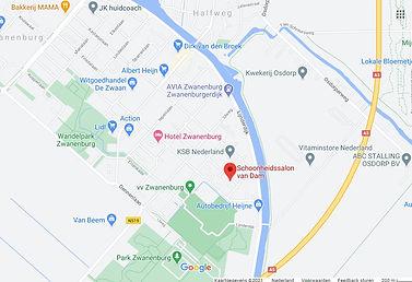 Schoonheidssalon van Dam maps Zwanenburg