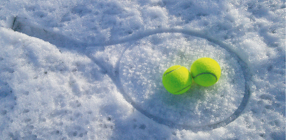 Tennis im Winter - wie cool ...