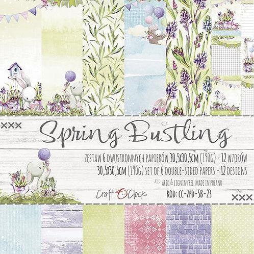 """Bloc papier """"spring Bustling"""" 30.5x30.5cm"""