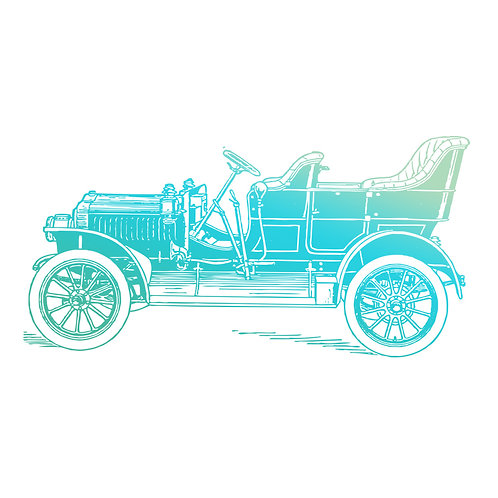 Tampon clear voiture vintage 6x6