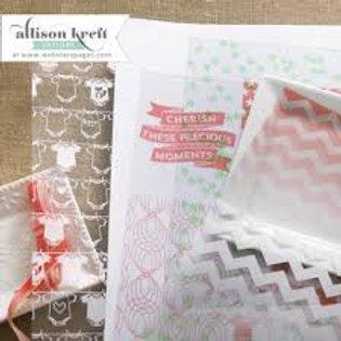 Papier Vellum 30.5 x 30.5 cm naissance