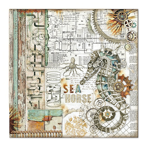 Vendu a l' unité stamperia Seaworld double feuilles 30,5x30.5 cm