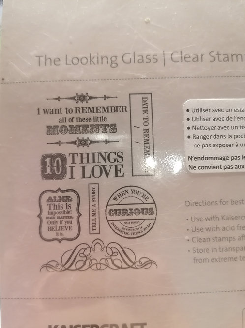 "Tampon clear ""The looking Glass"""