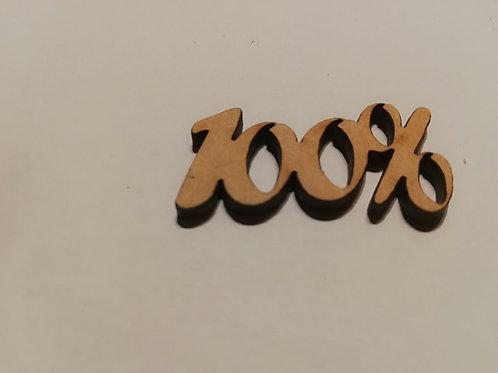 Embellissement bois 100%  3x3cm